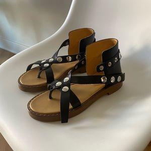 MAISON MARGIELA  black leather sandals  **